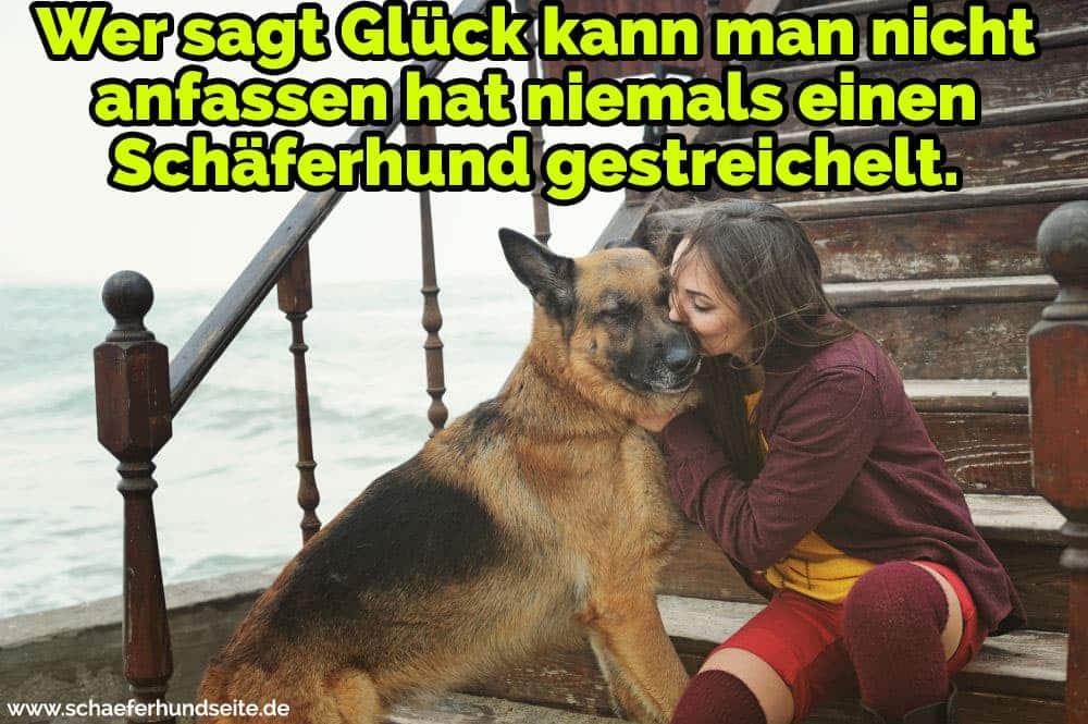 Eine junge Frau Küsst ihren Schäferhund